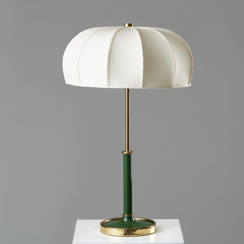 Mid Century Modern Table Lamp With Green Base