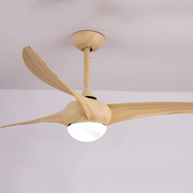 52 Inch Remote Control Wooden Ceiling Fan With LED Lights