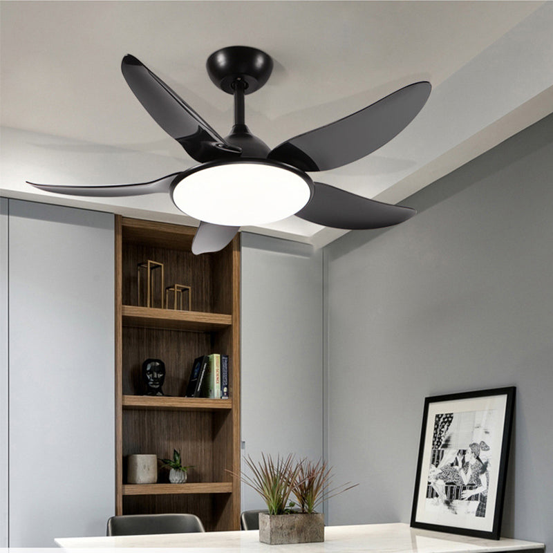 "52"" Contemporary Remote Control Ceiling Fan With LED Lights"