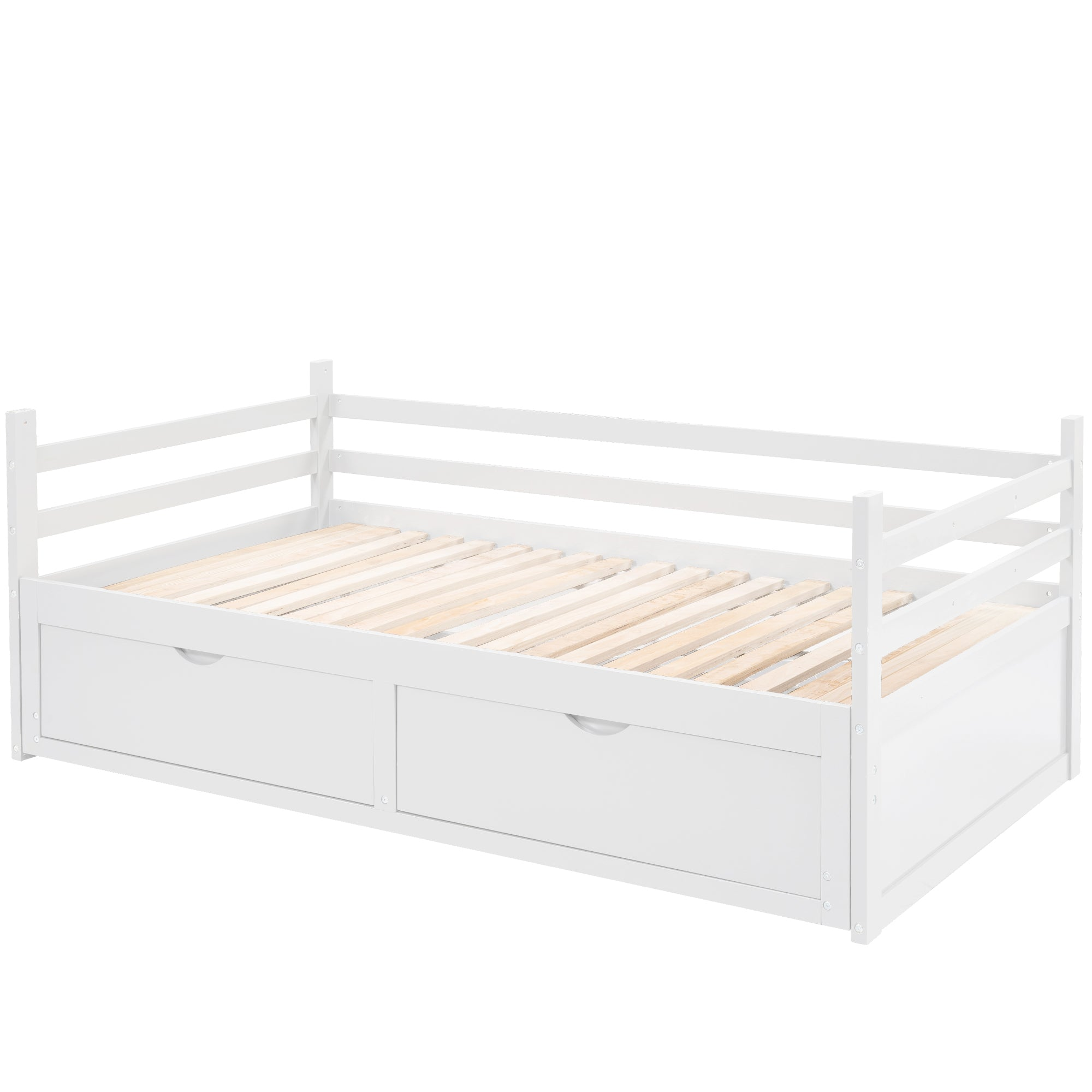 Twin over Twin Standard Bunk Bed with Shelves