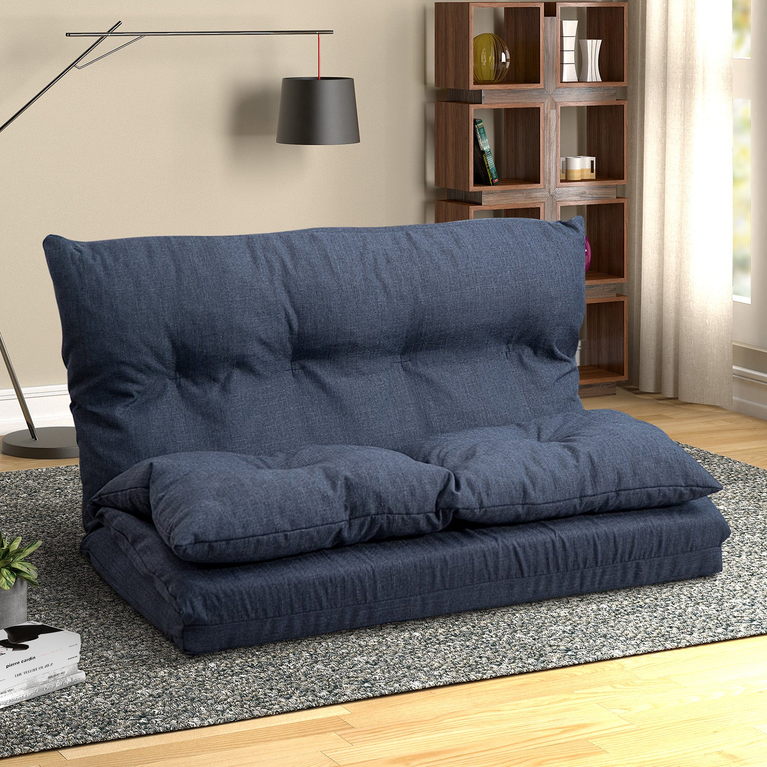 Floor Couch Simple Sofa Fabric Folding Chaise Lounge