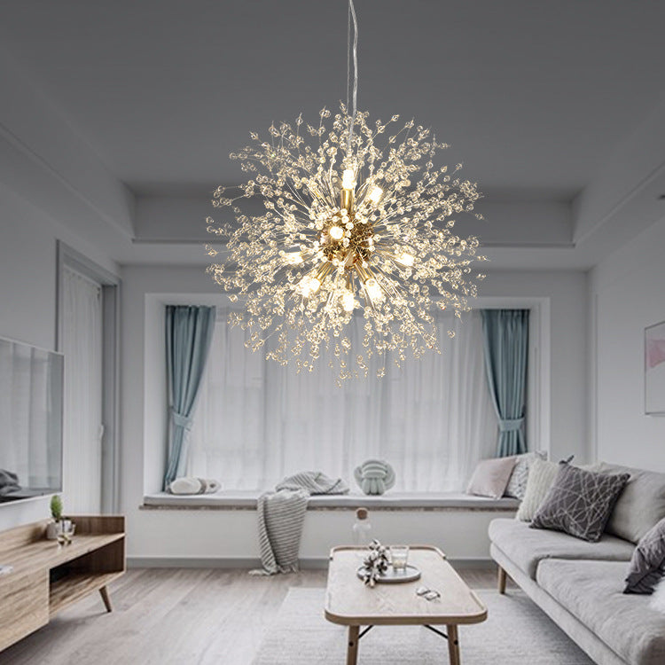 Dandelion Beaded Ceiling Light Nordic Crystal Chandelier