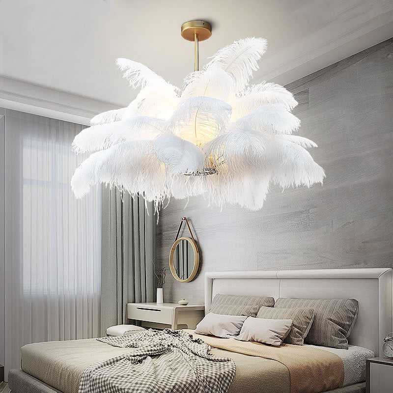 Modern Feather Home Chandelier Nordic Craft Pendant Lighting