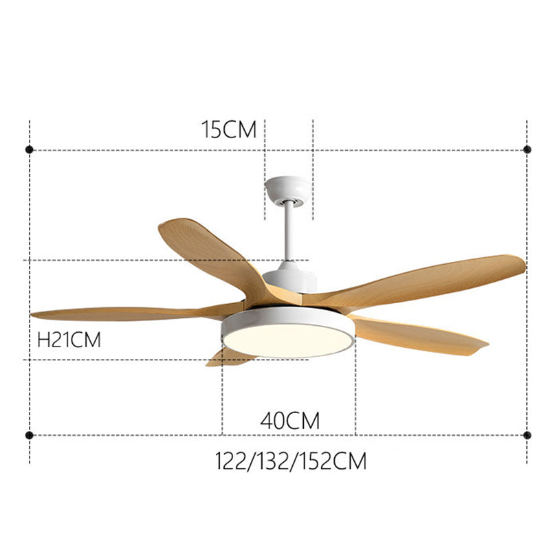Minimalist Wooden LED Ceiling Fan With Light