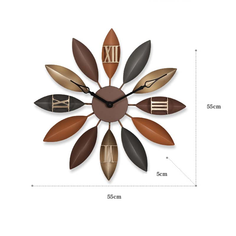 Nordic Wall Clock For Living Room Metal Watch For Home Decoration