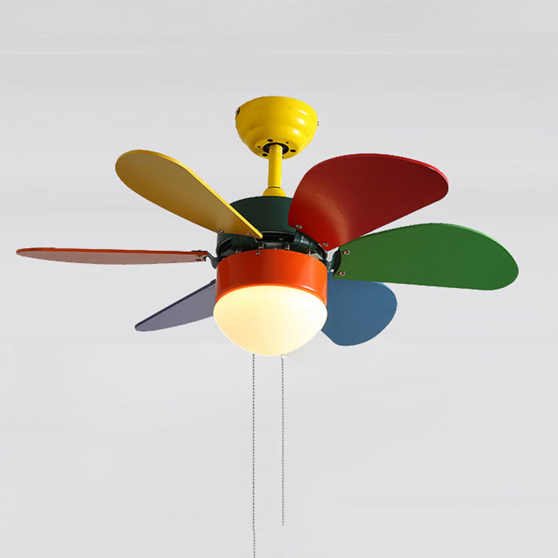Colorful Ceiling Fan Lamp With Remote Control