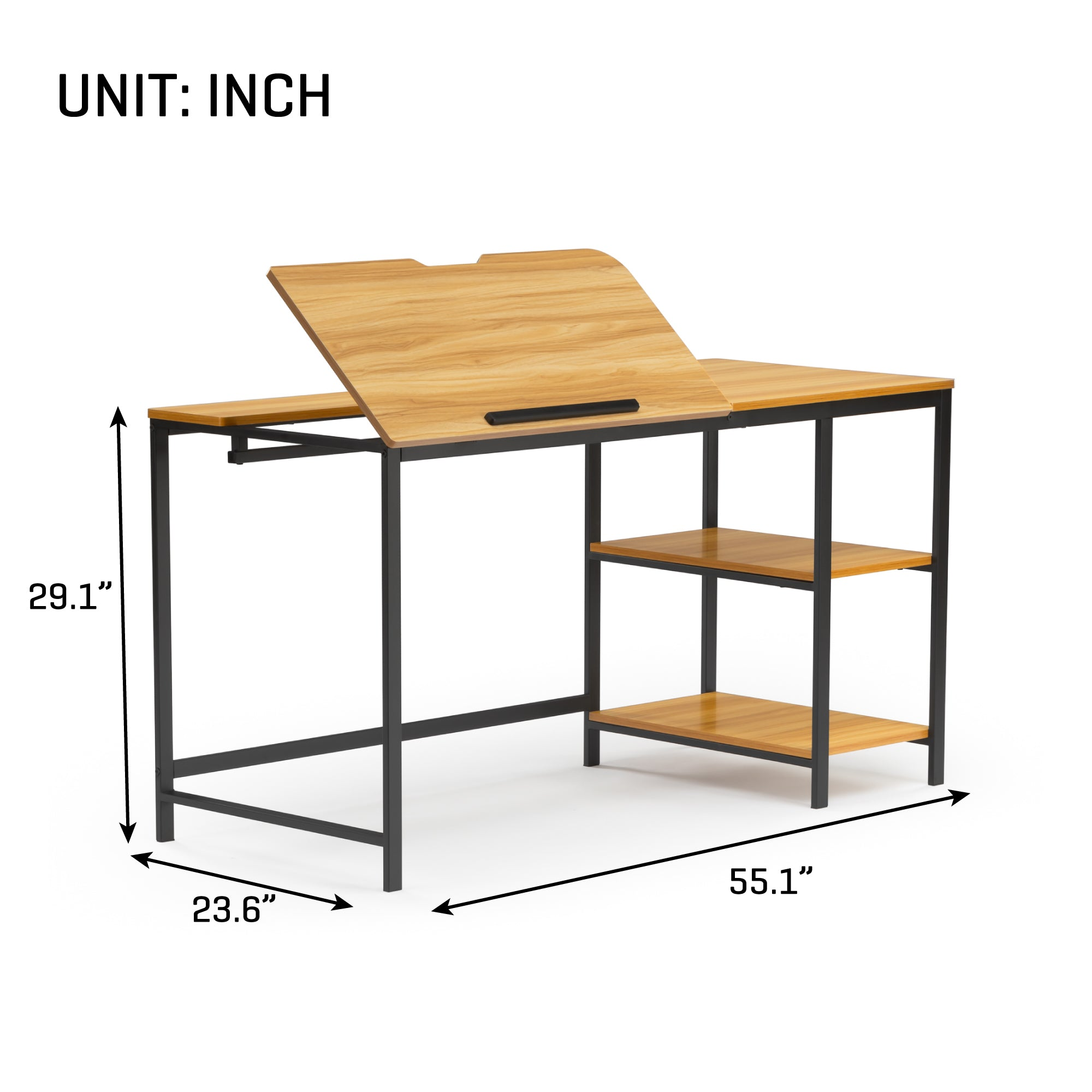 55 Inch Multi-Function Adjustable Drafting Table