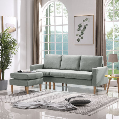 L-Shape Couch 4-seat Sofas Sectional for Living Room