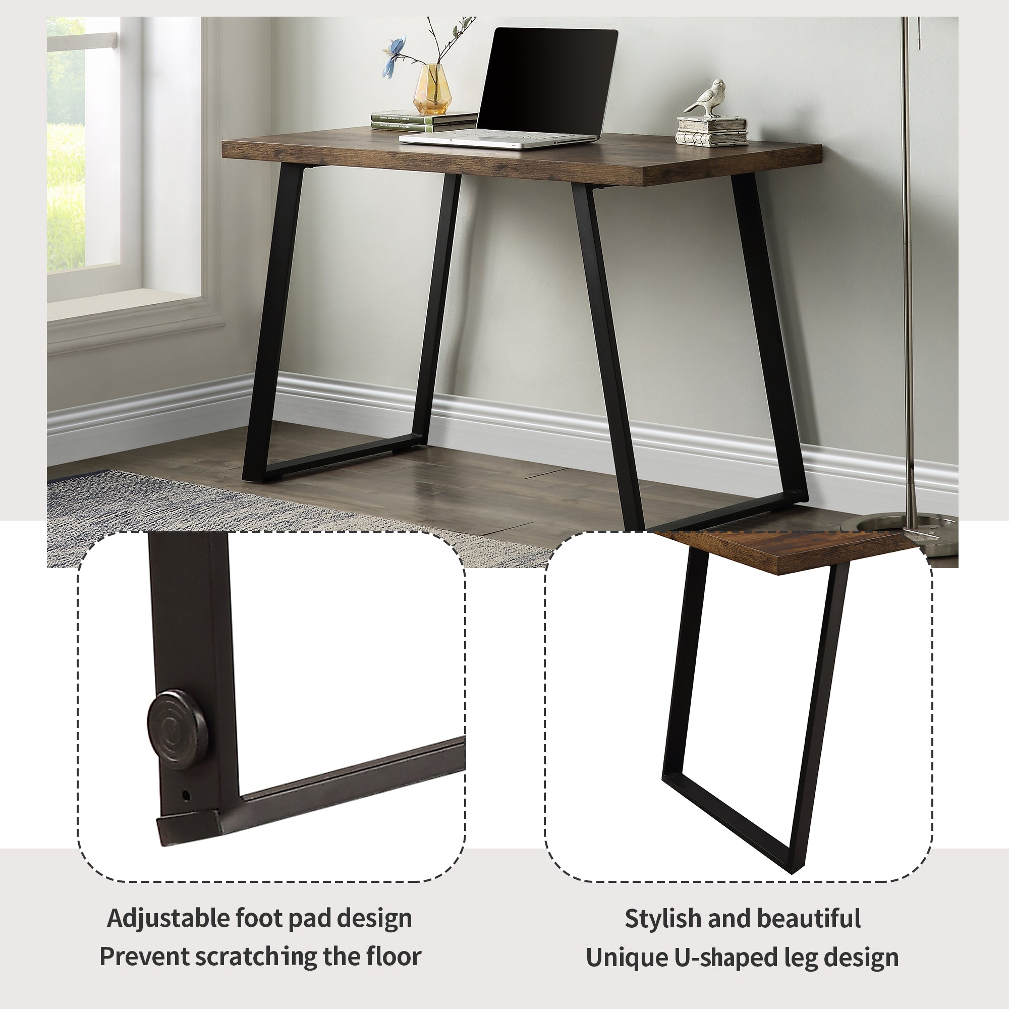 Industrial Writing Desk For Home Office Workstation