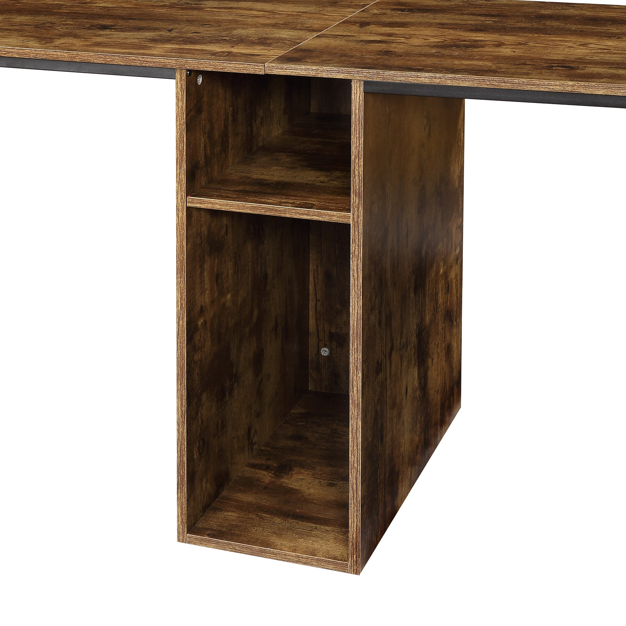 Large Double Home Office Writing Desk With Storage