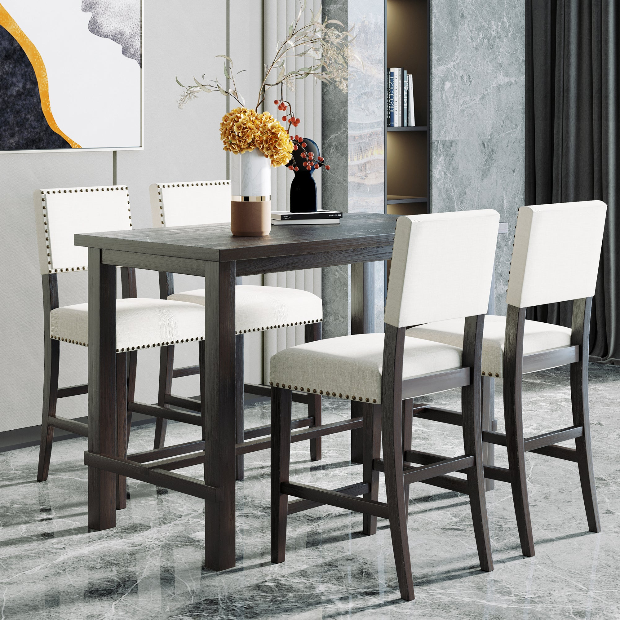 Classic 5-Piece Counter Height Dining Set