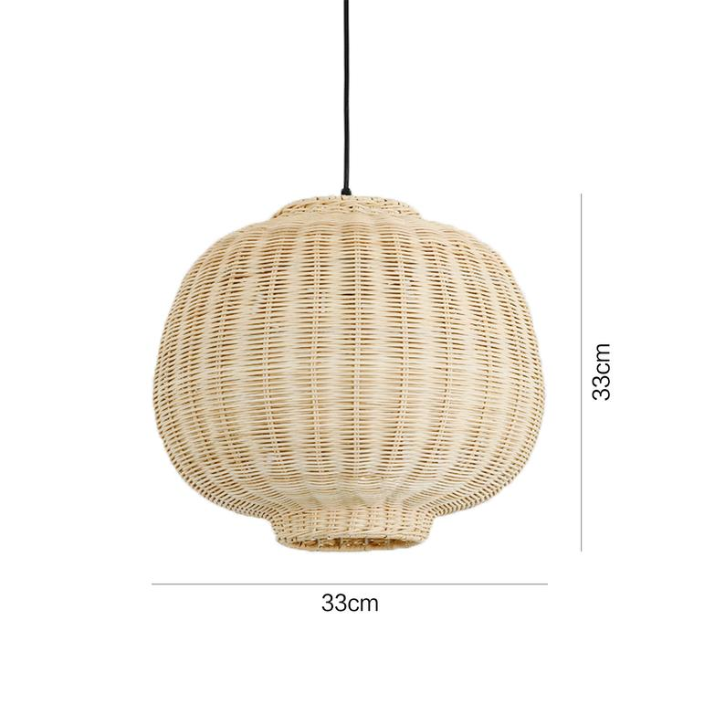 Rattan Lampshade Woven Light Shade Hanging Light