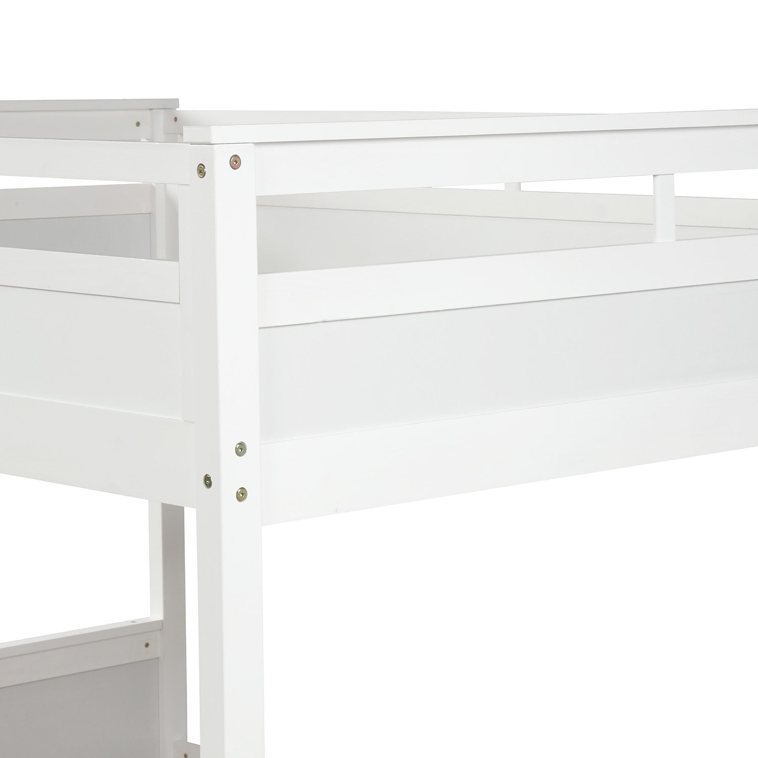 Wood Twin Over Twin Bunk Bed For Kids