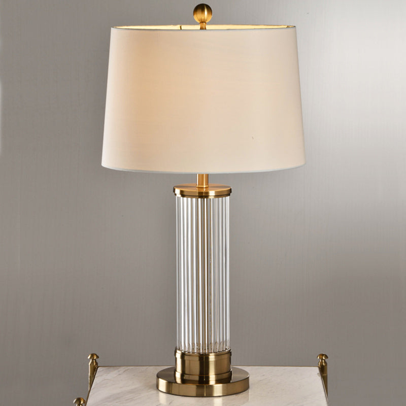 Metal Buffet Table Lamp with Crystal Accents