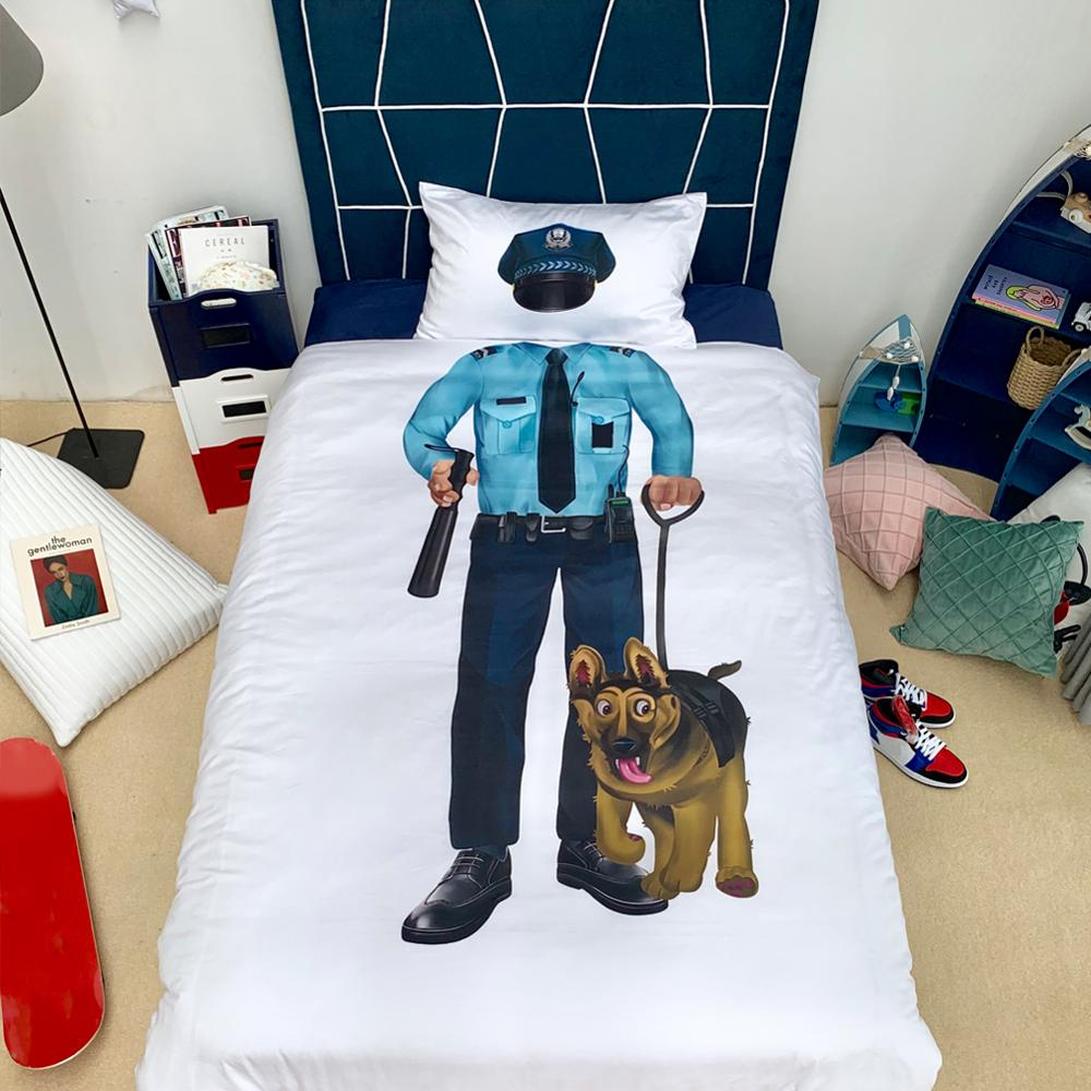 2pcs Astronaut Police Bedding Sets With Pillow case For Children Gift