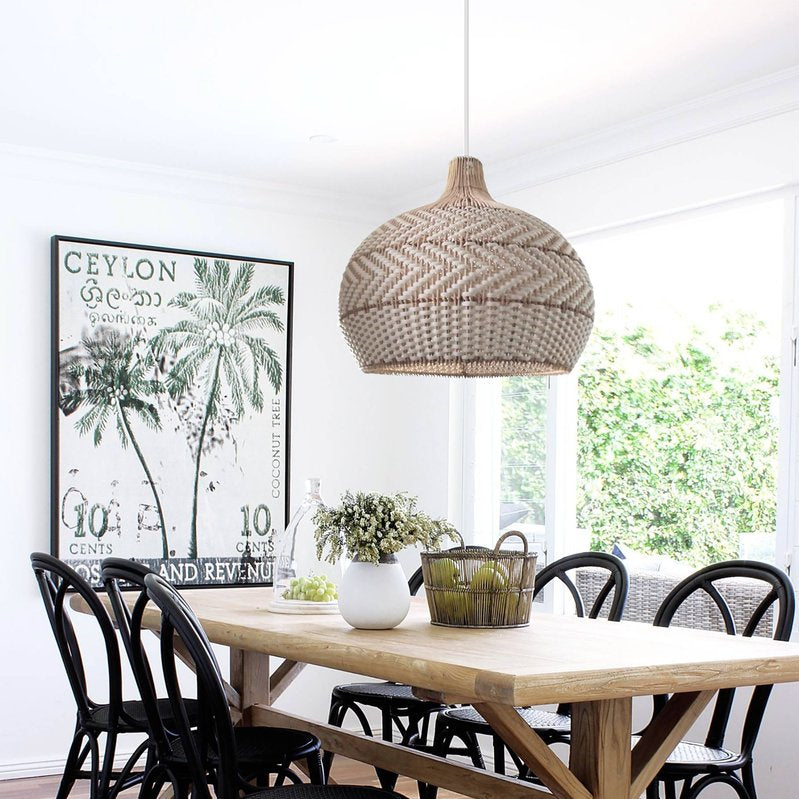 Nature Rattan Lampshade Handmade Pendant Lighting