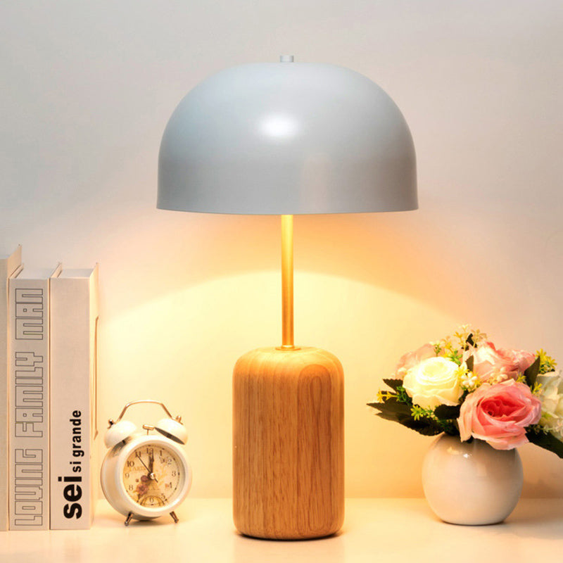 Nordic Wooden Bedroom Table Lamp