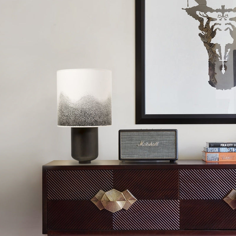 Modern Simple Black Bedroom Bedside Table Lamp