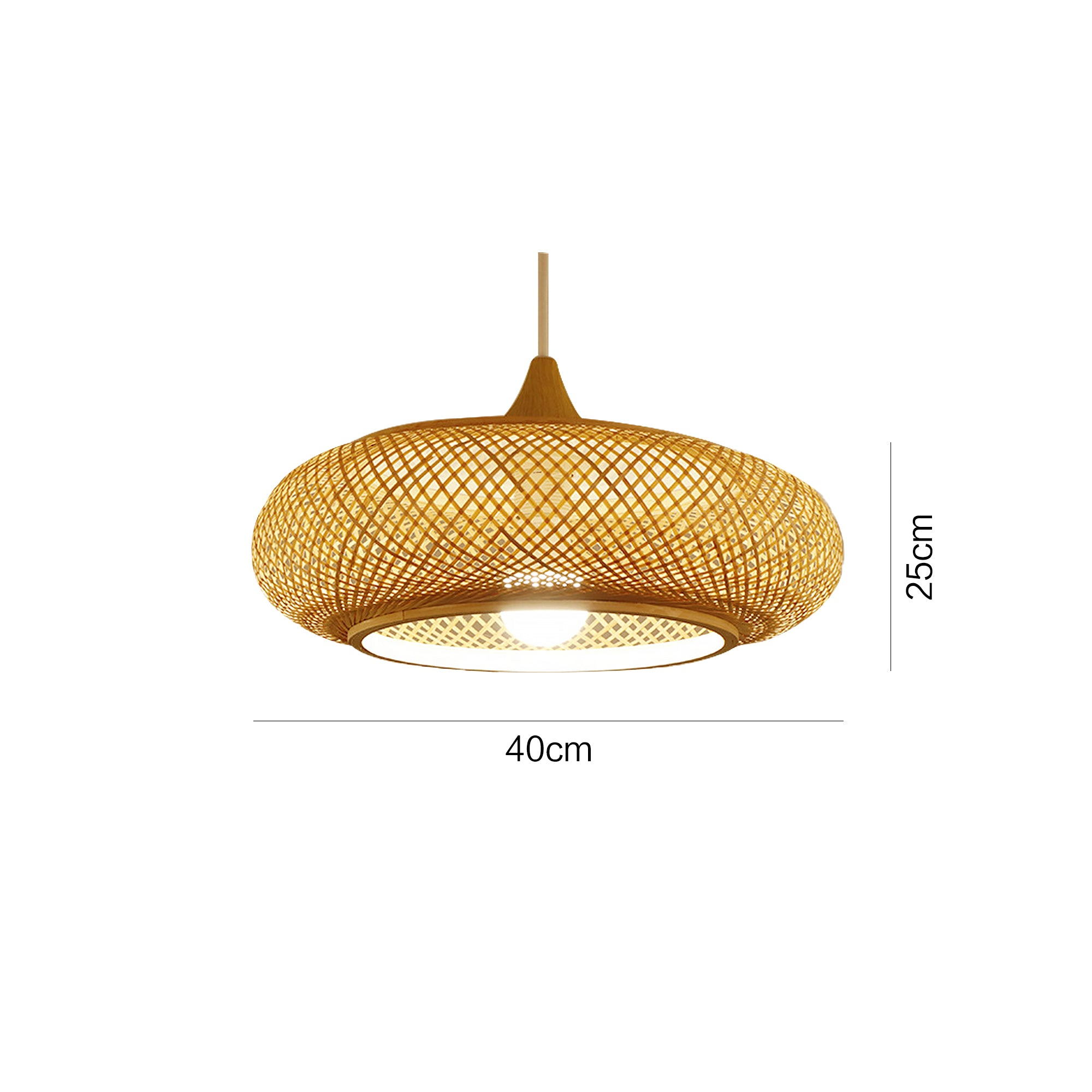 Nordic Bamboo Pendant Light Lamp Shades