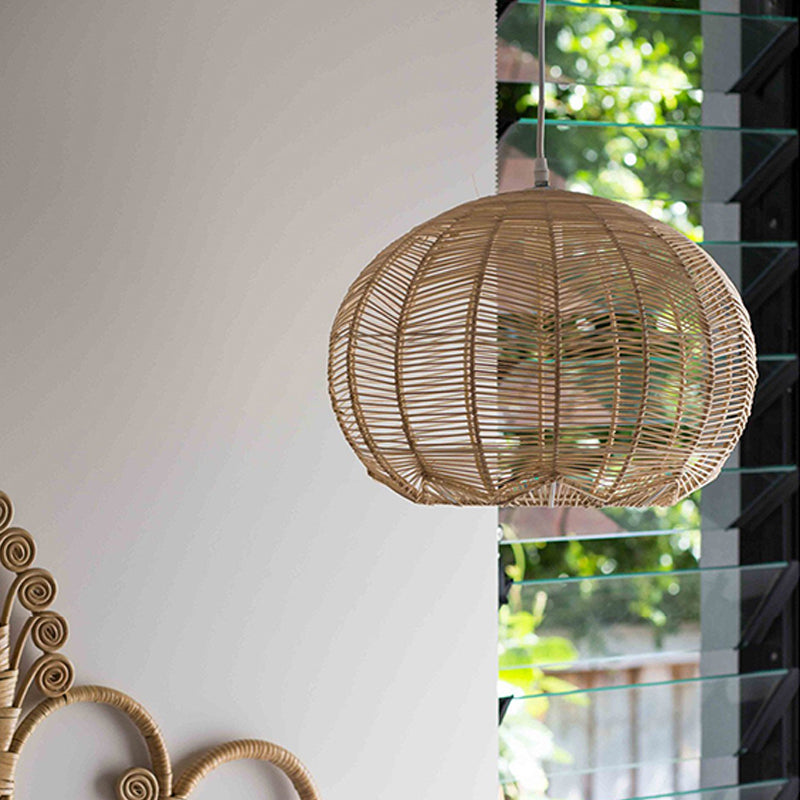 Japanese Rattan Chandelier Light Woven Pendant Light Shade