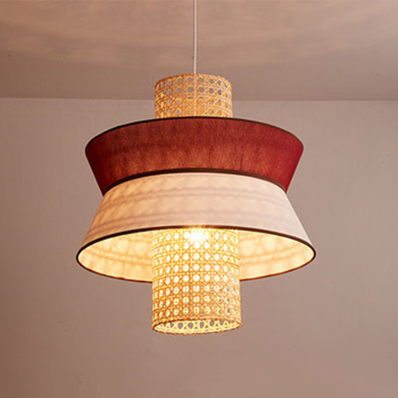 Bamboo Woven Pendant Light Shade For Living Room