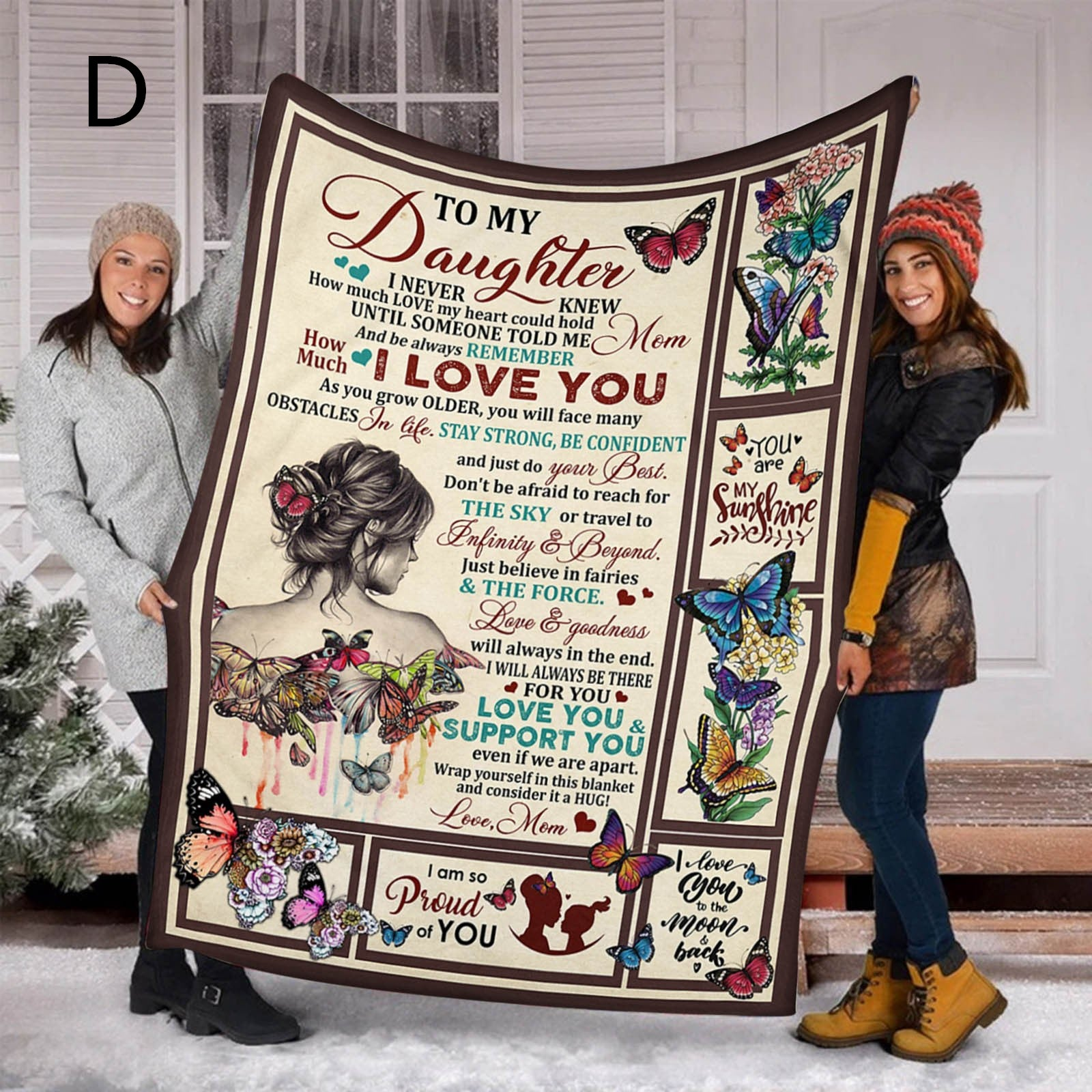 To My Daughter - Sweet Fleece Blanket Special Gift Thicken Blankets