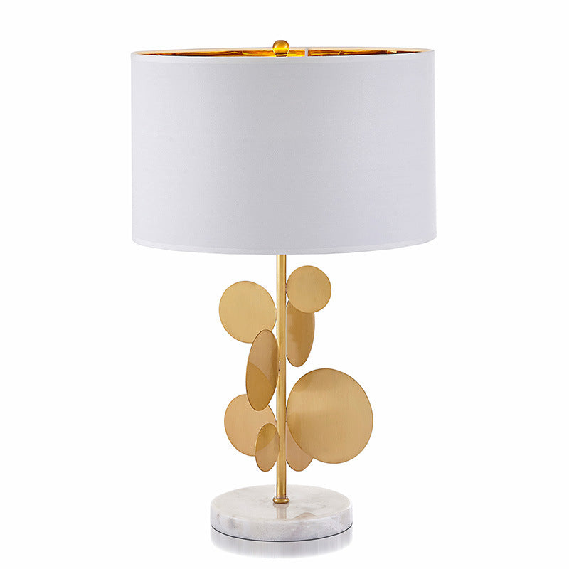 Selim Metallic Gold Leaf Bedroom Table Lamp