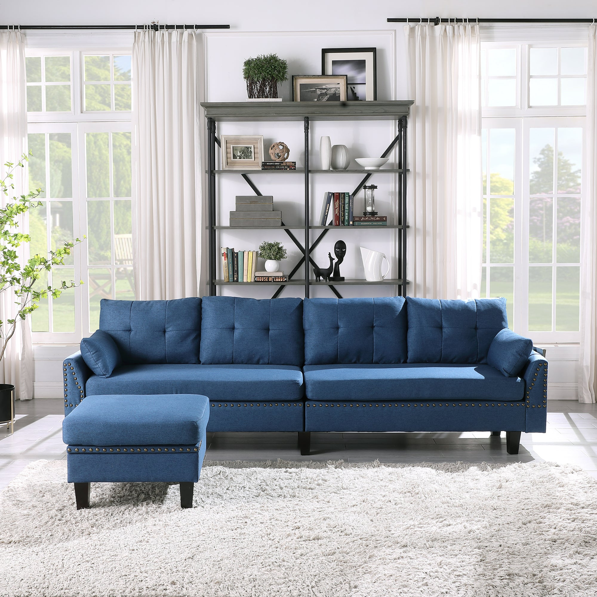 North Europen 4-Seat Couch Sofa For Living Room