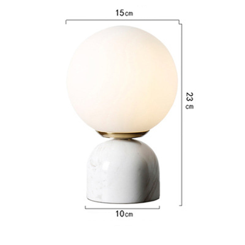 Nordic Modern Marble Bedroom Table Lamp