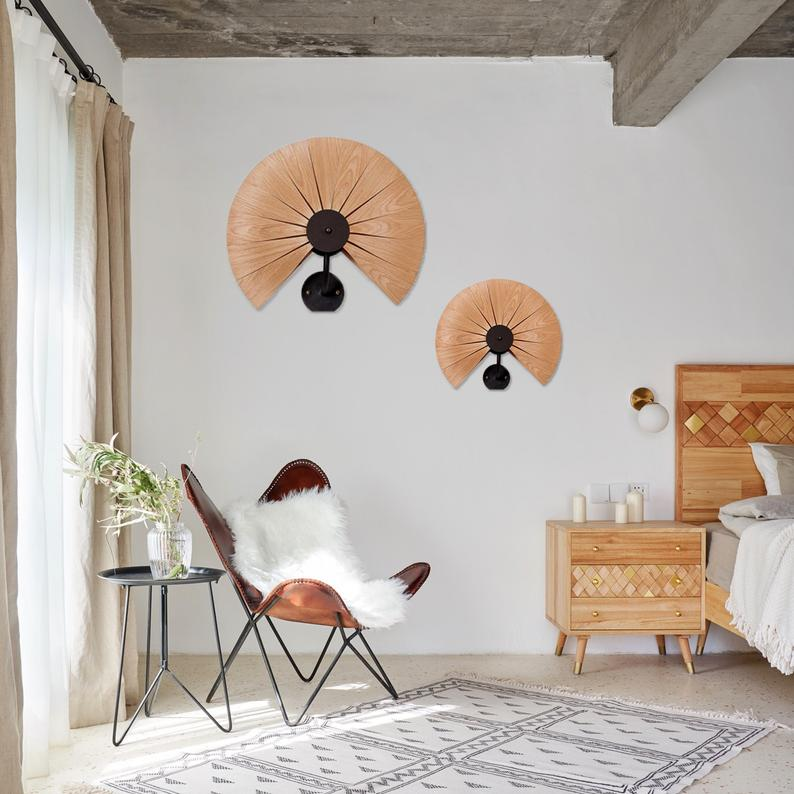 Blossom Wooden Lampshade,Flower Wall Sconce