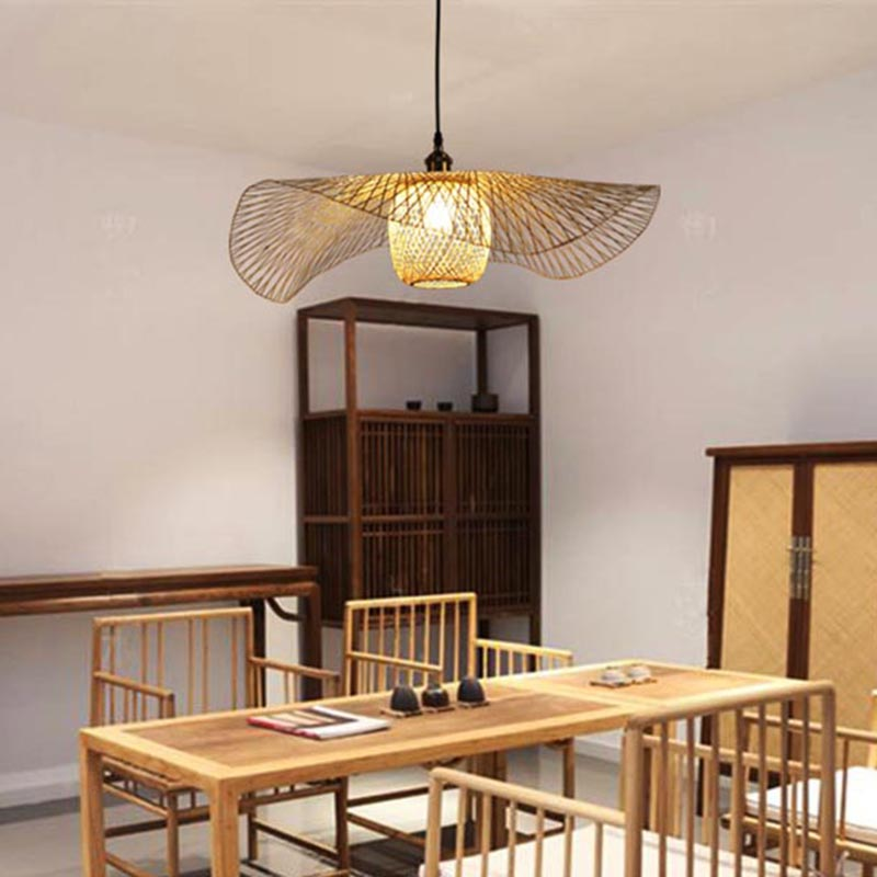 Creative Bamboo Weaving Ceiling Lamp Shades