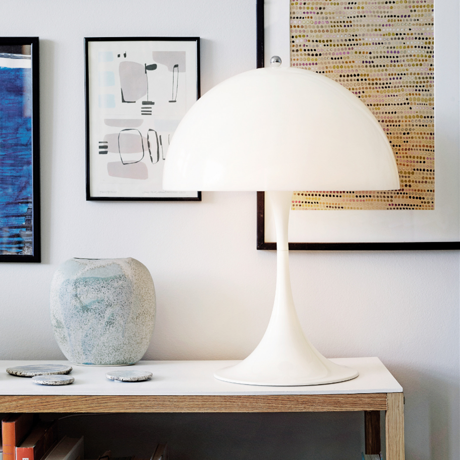 Nordic White Mushroom Table Lamp