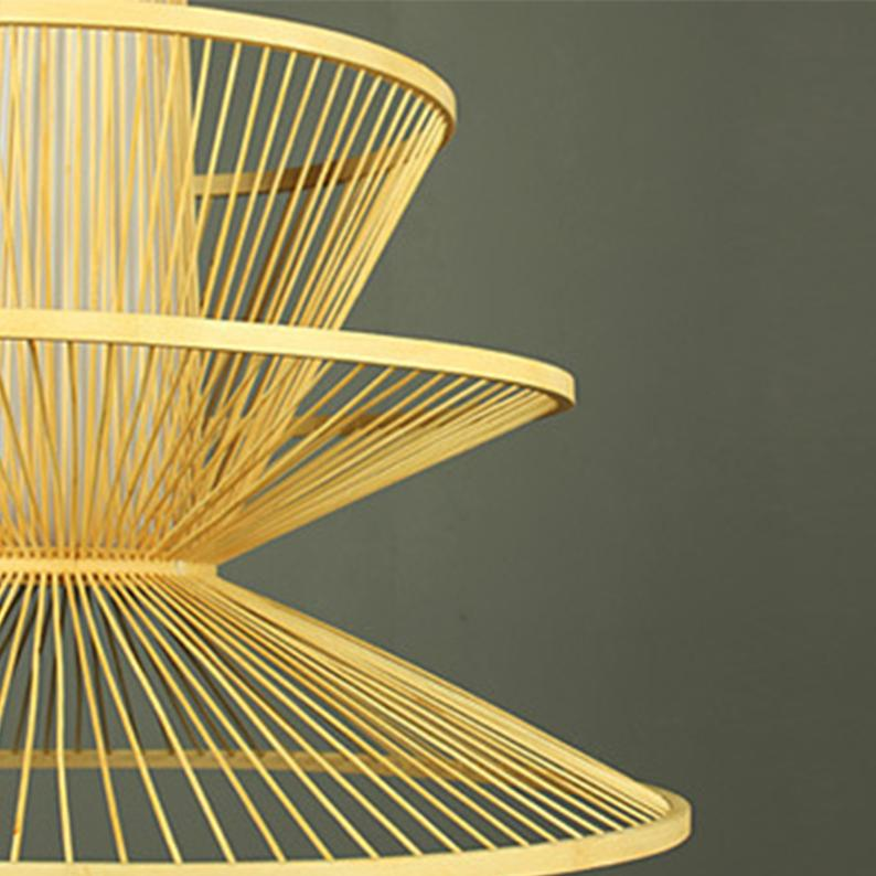 Cup Shade Bamboo Ceiling Lampshade