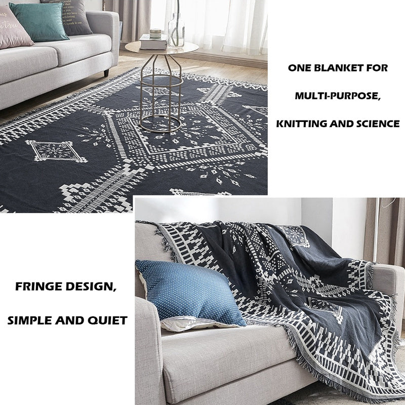 Simple Sofa Throw Blanket Knitted Bedspread