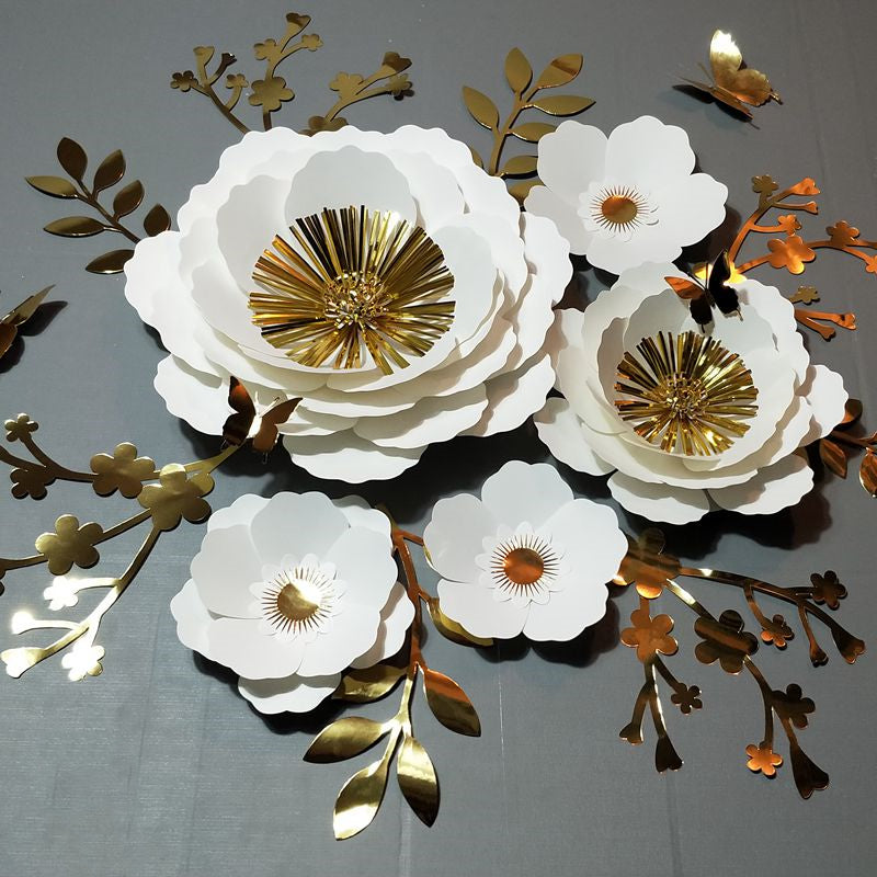 Luxury 3D Paper Flower Wall Decoration