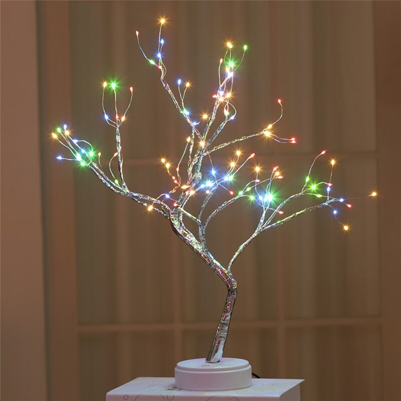 LED Night Light Pearl Bonsai Table Touch Tree Light Gypsophila Table Light