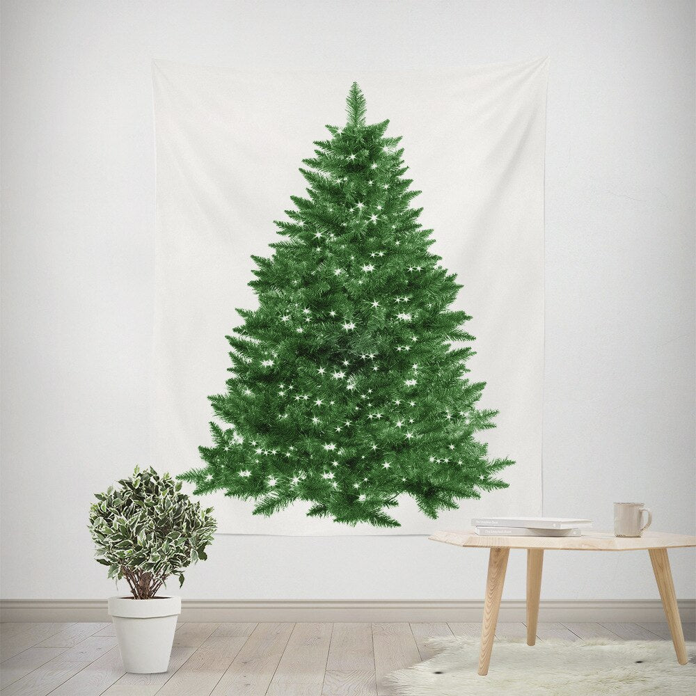 Christmas Tree Wall Hanging Tapestry Cloth New Year Hang Carpet