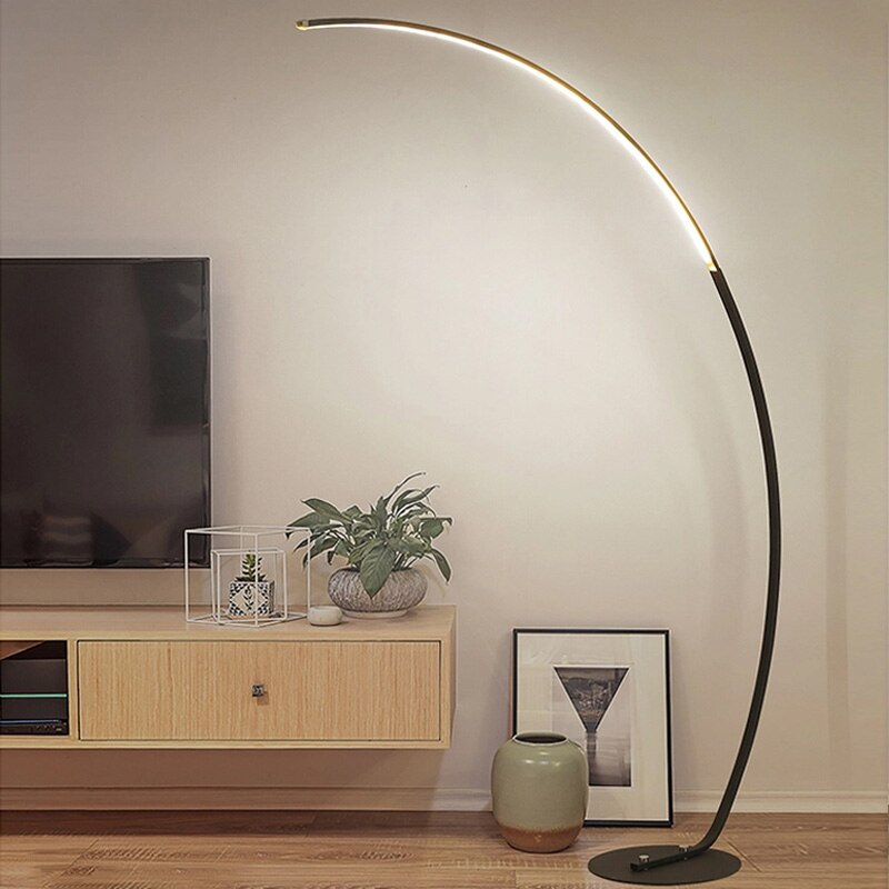 Modern Remote Control LED Floor Lamp Standing Lamp For Living Room