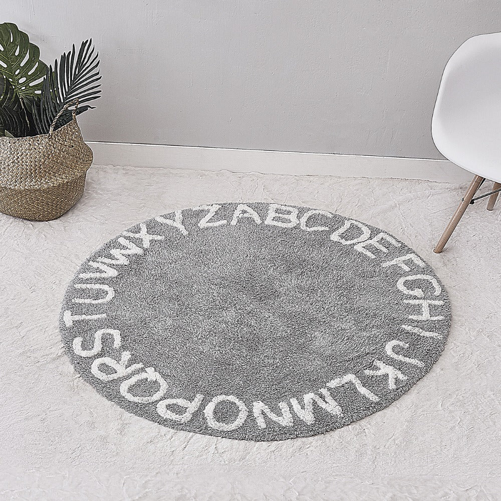 Round Cotton Baby Play Mat Kids Games Rug with Letters