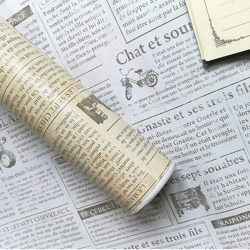 White Vintage Newspaper Wallpaper