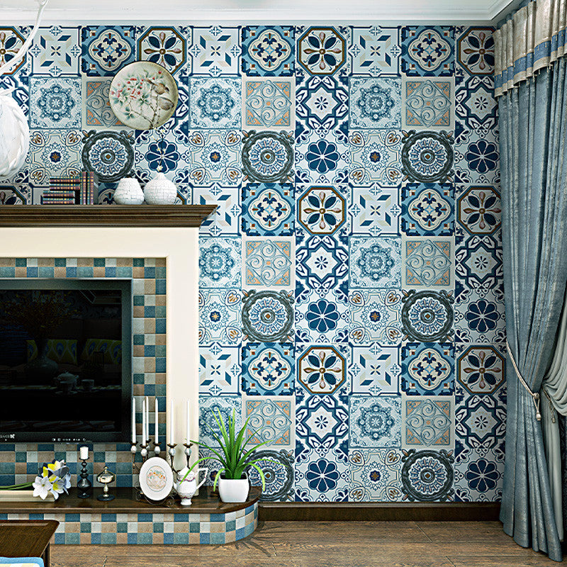 Imitation Tile Wallpaper For Kitchen Wall