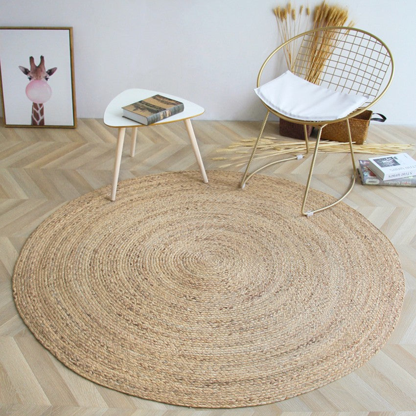 Natural Reed Handmade Cool Carpet Japanese Round Tatami Mat