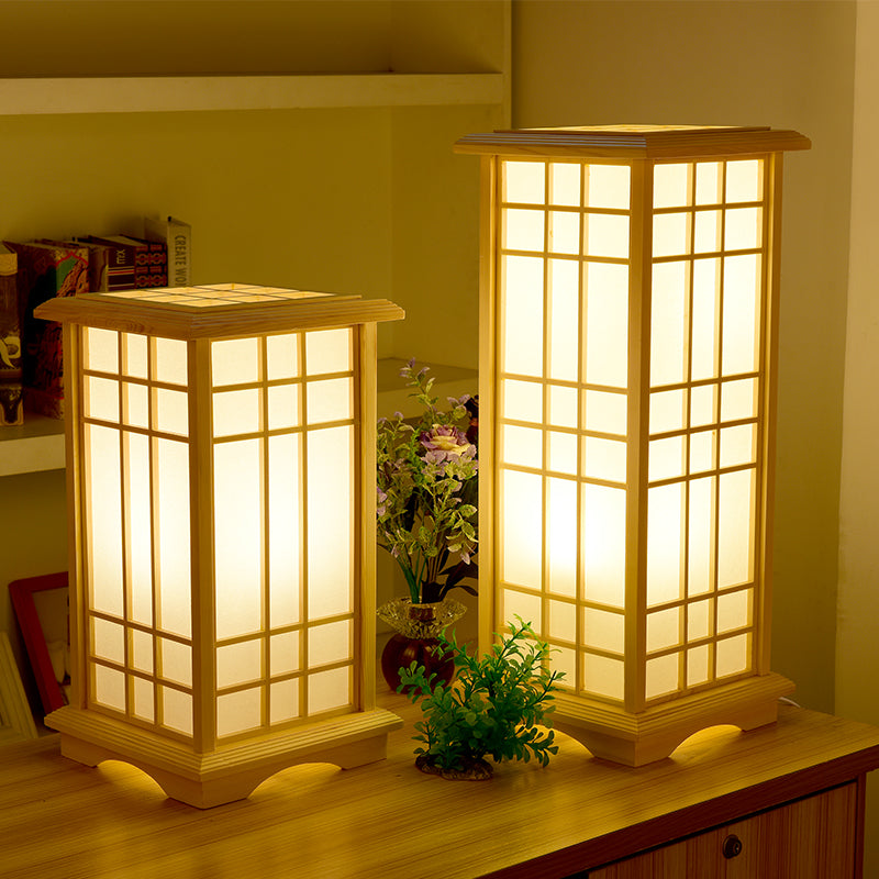 Japanese Floor Lamp Wood Tatami Table Lamp For Bedroom