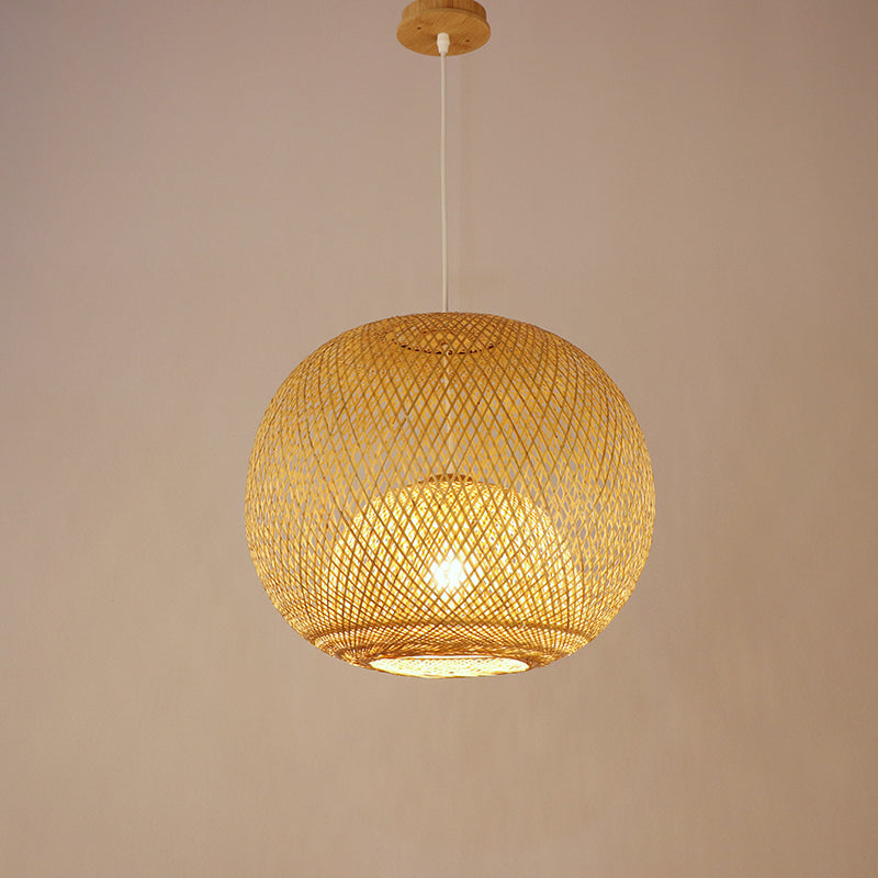 Japan Basket Bamboo Pendant Light