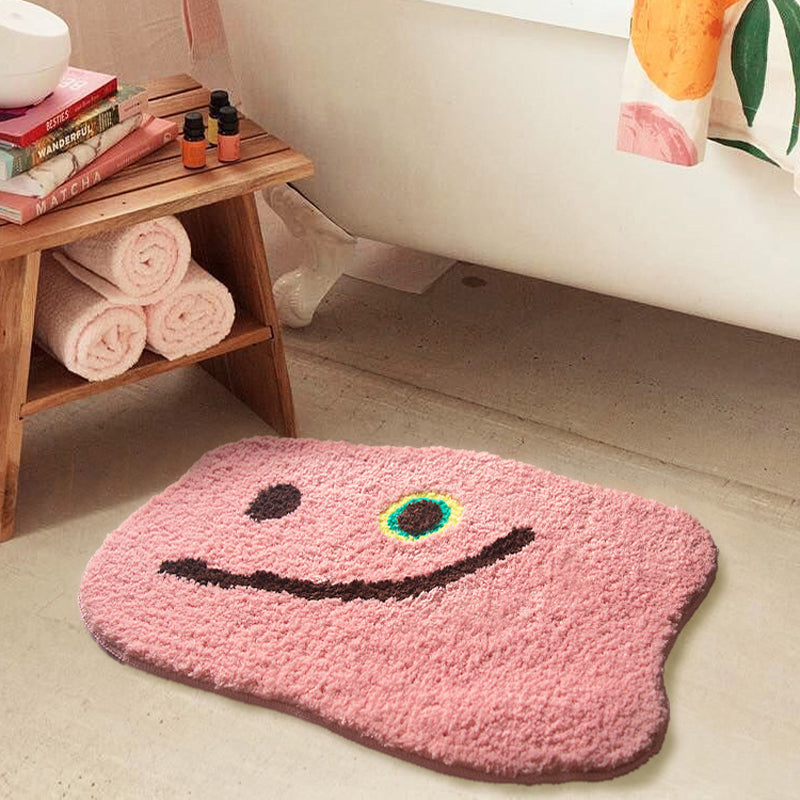 Pink Fluffy Area Rug Absorbent Anti Slip Pad Bathmat
