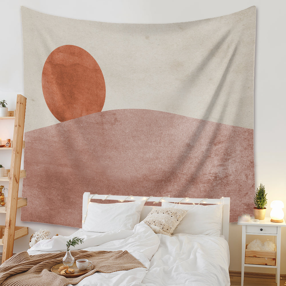 Sun Moon Wall Decor Mat Pink Tapestry