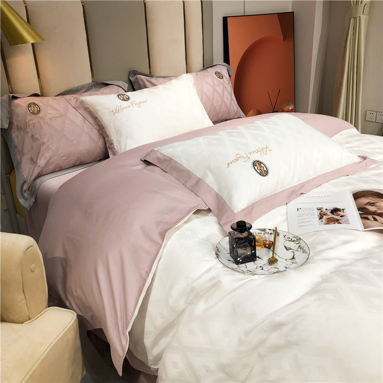 Silkly Cotton Bedding Linens Spring Duvet Cover Set