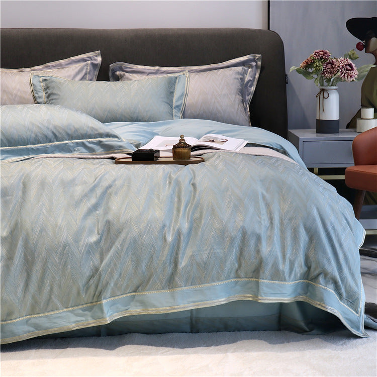 Modern Cotton Jacquard Adult Bedding Set Sheet Duvet Cover