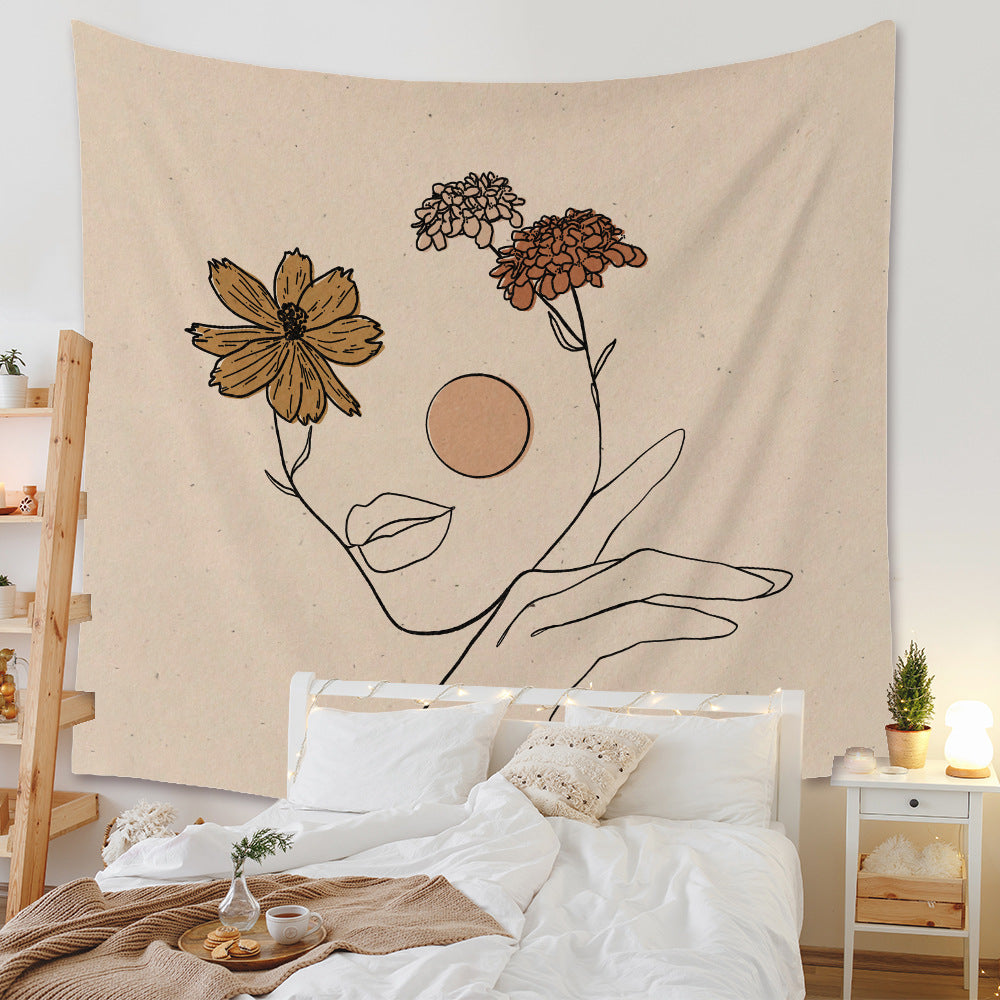 Retro Art Painting Tapestry Wall Blanket Scenery Tapestry