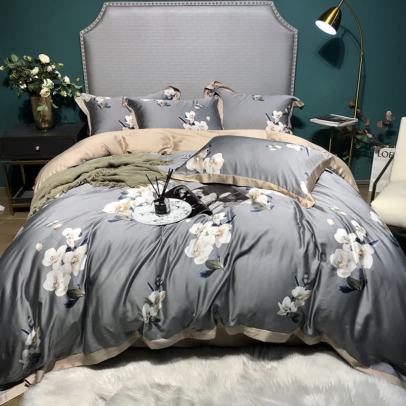 Luxury Cotton Spring Bedding Set Queen King Size Duvet Cover